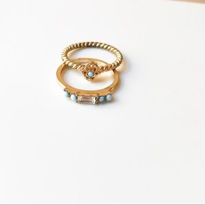 URBAN OUTFITTERS: SET OF GOLD RINGS